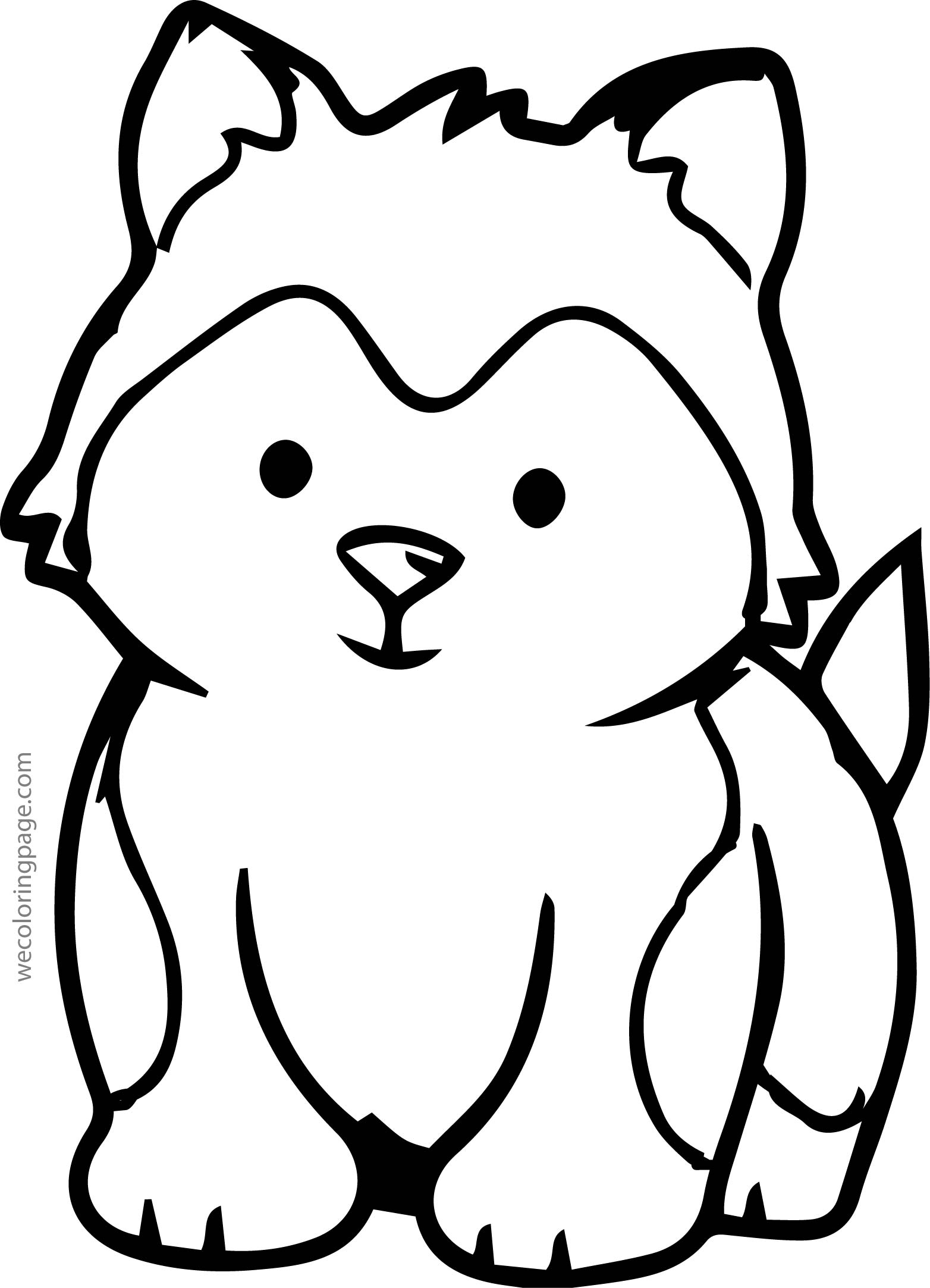 Husky Baby Coloring Page Wecoloringpage