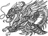 Hydra Dragon Creature Coloring Page