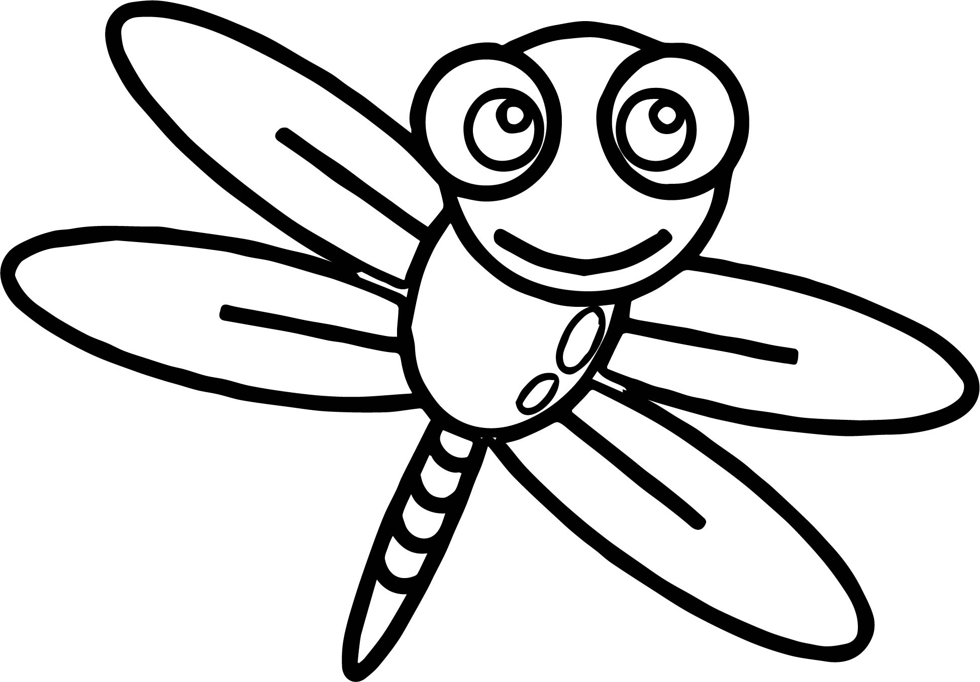 fly coloring page - insect fly coloring page