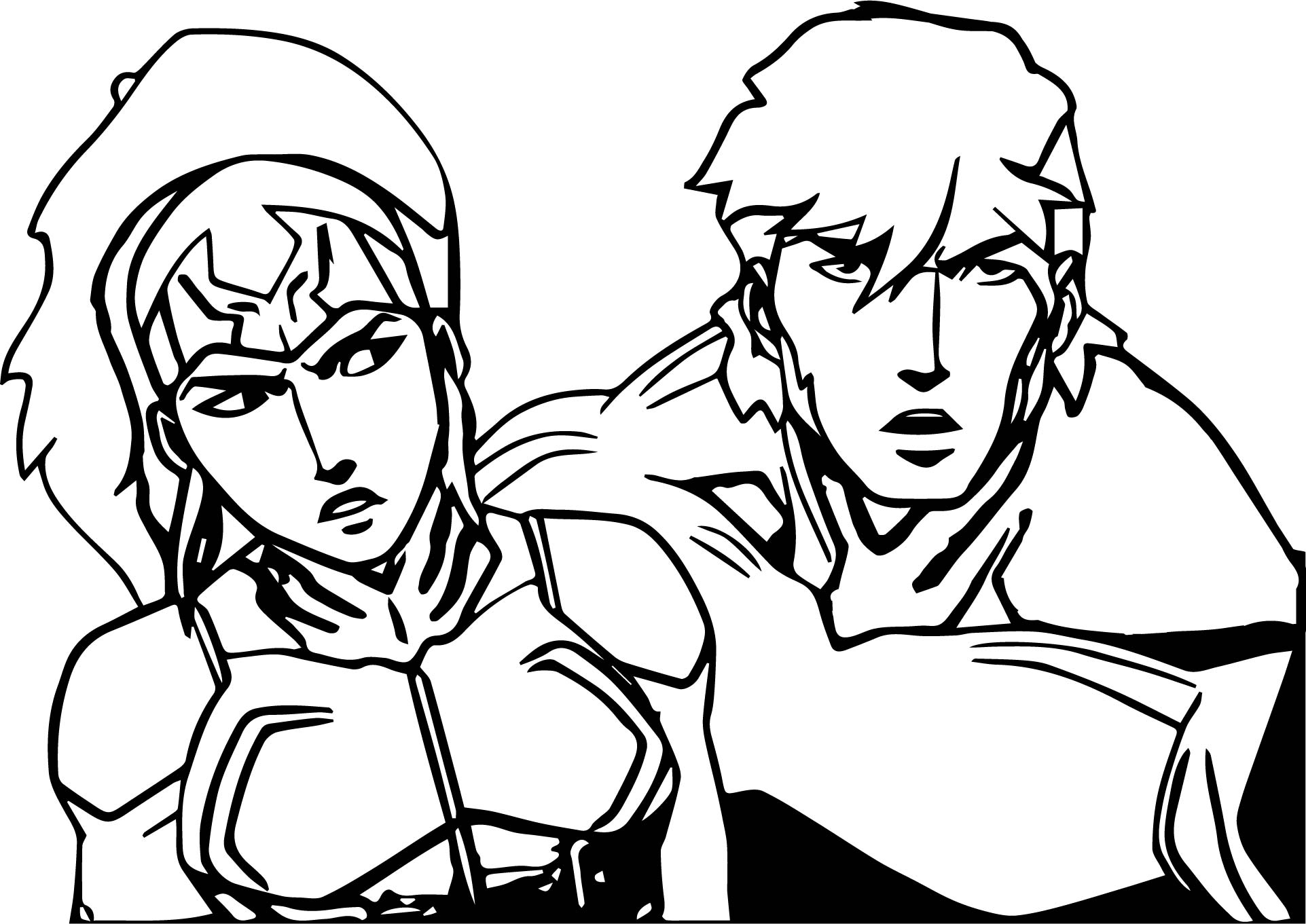 Justice League Man Woman Coloring Page