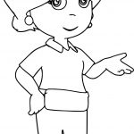 Kelly Handy Manny Coloring Page