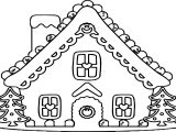 Large Gingerbread House Coloring Page