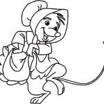 Little Sister Mouse Robin Hood Character Coloring Page
