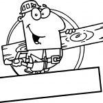 Man Carpenter Coloring Page