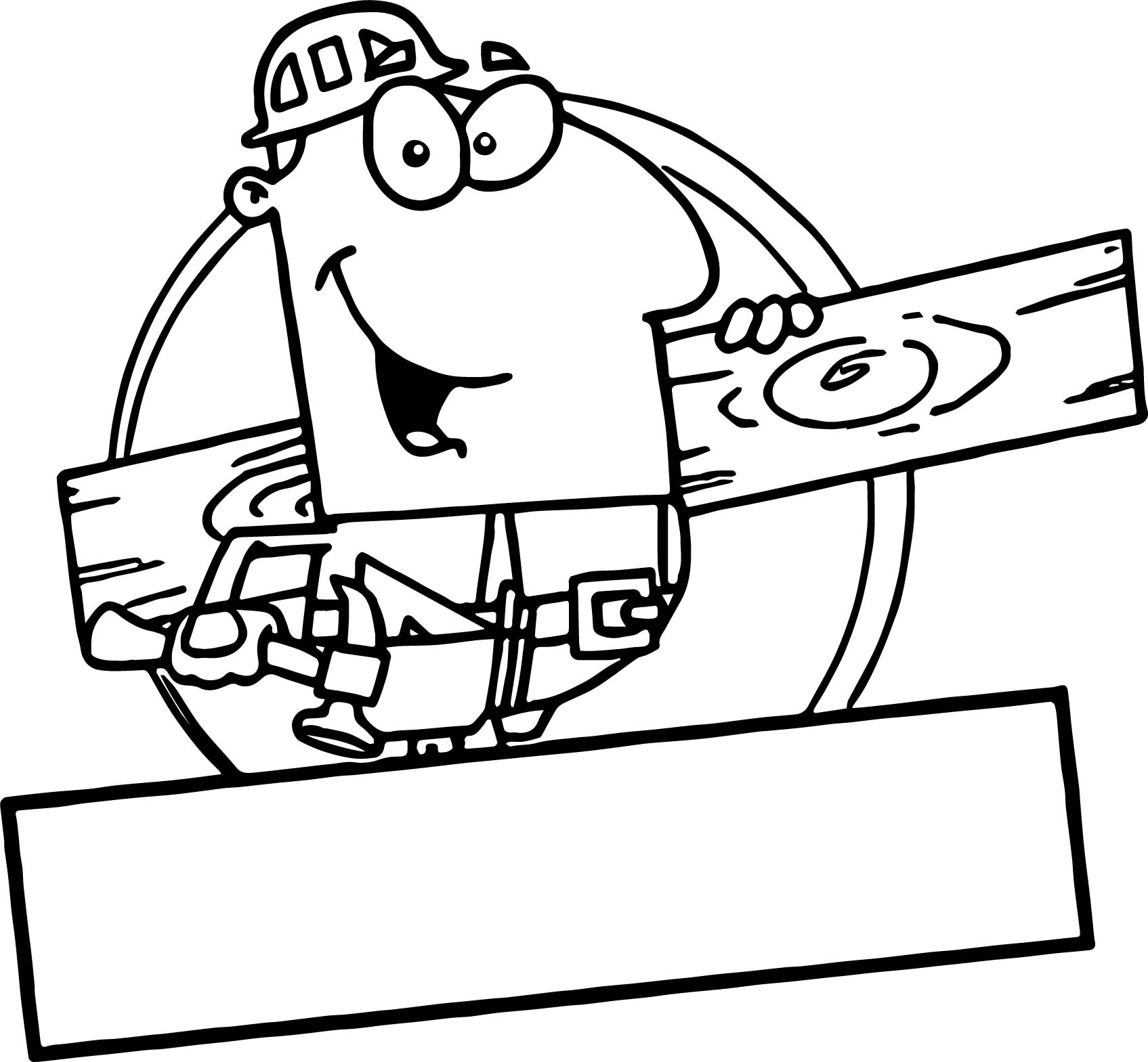 Man Carpenter Coloring Page