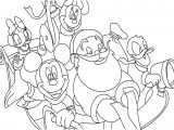 Mickey And Friends With Santa Coloring Pages
