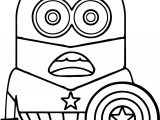 Minion Captain America Coloring Page