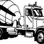 Mixing Big Truck Coloring Page