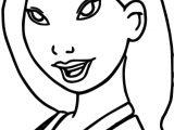 Mulan Smile Coloring Page