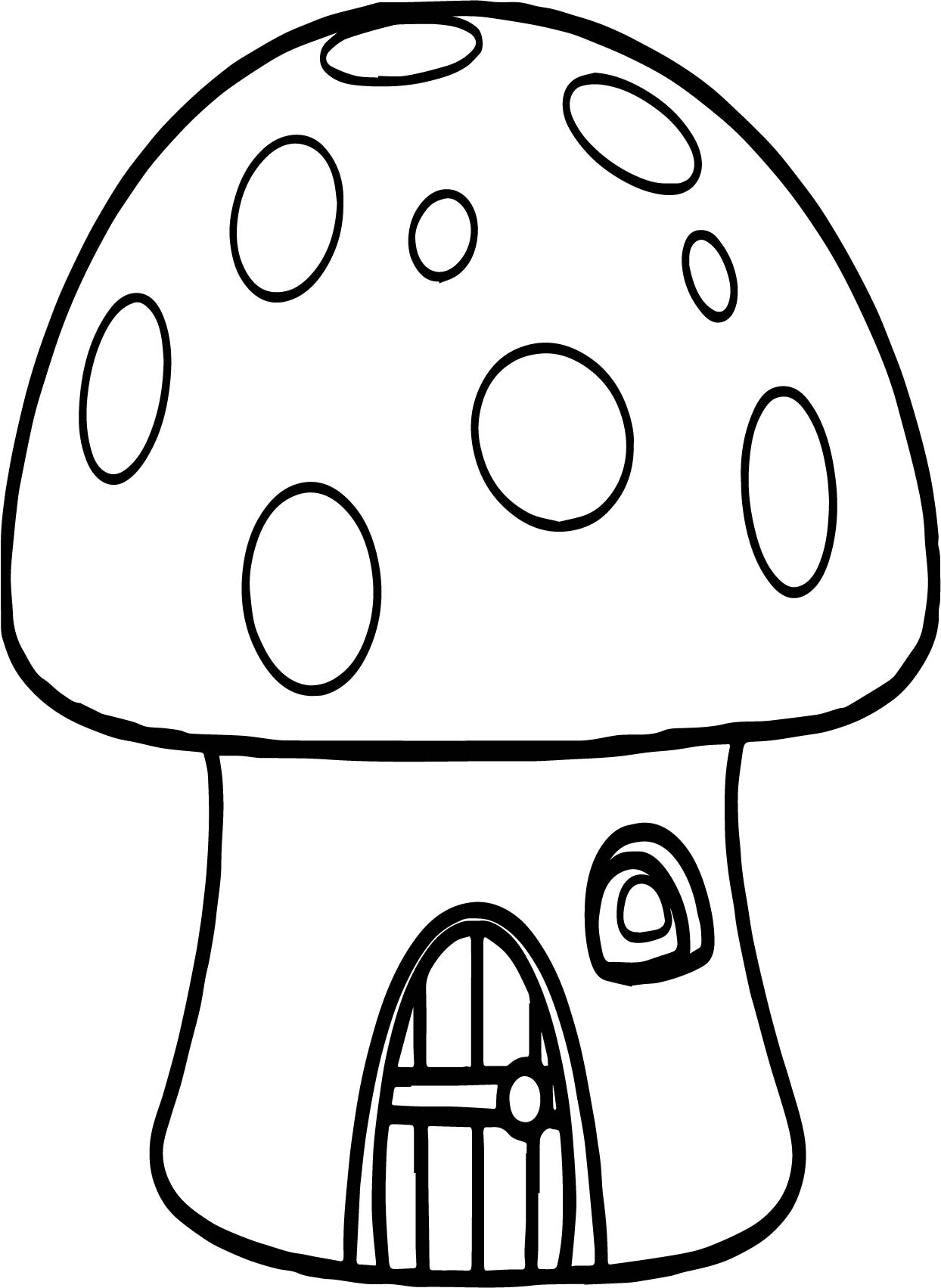 mushroom house gingerbread house coloring page