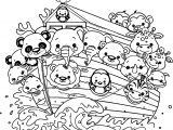 Noah Ship Cartoon Coloring Page