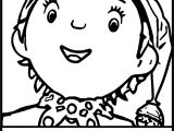 Noddy Face Coloring Page