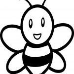 One Bee Coloring Page
