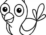 Parrot Cartoon Coloring Page