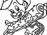 Pinocchio Cake Coloring Page
