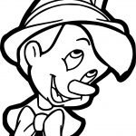Pinocchio Face Coloring Pages