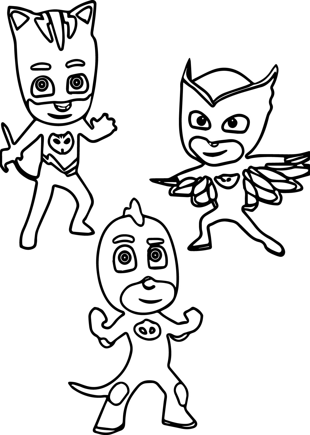 pj masks printable coloring page - Pj Masks Coloring Pages