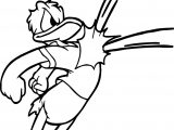 Play Soccer Donald Duck Coloring Page