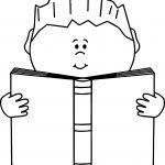Read A Book Boy Coloring Page