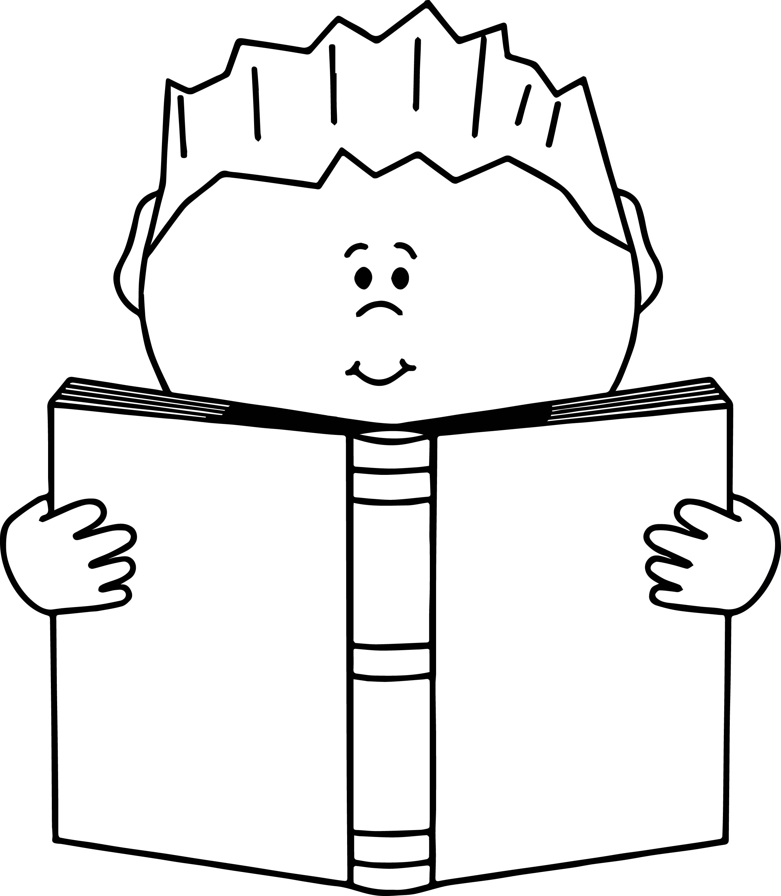 Read A Book Boy Coloring Page | Wecoloringpage