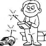 Remote Toy Car Child Coloring Page