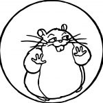 Rhino Hamster In Ball Coloring Pages