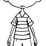 Shock Child Character Coloring Page