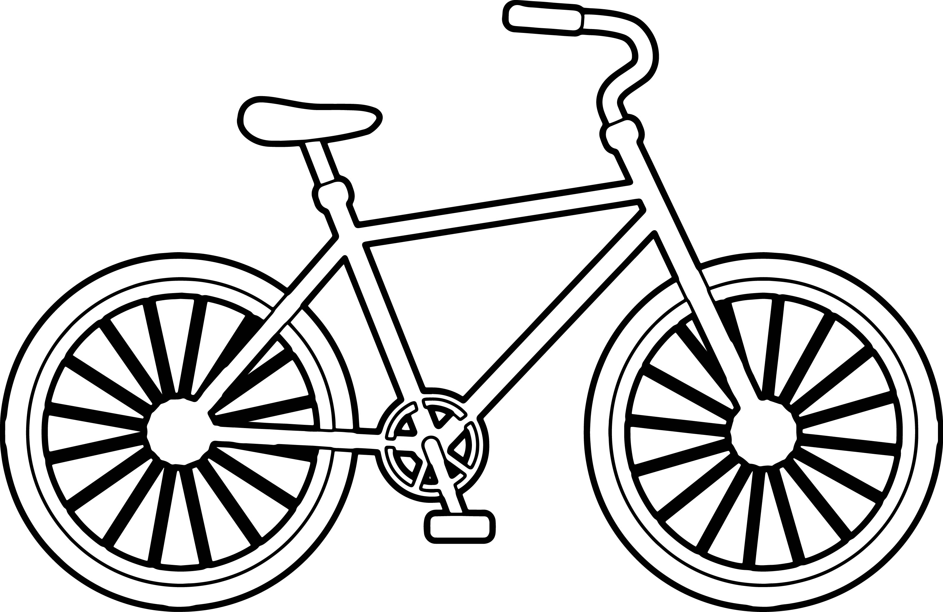 Simple Bike Biycle Coloring Page