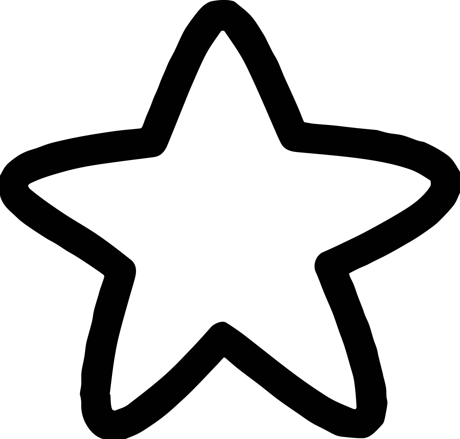 simple star coloring page - Coloring Pages Simple