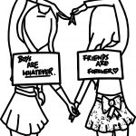 Six Best Friends Coloring Page