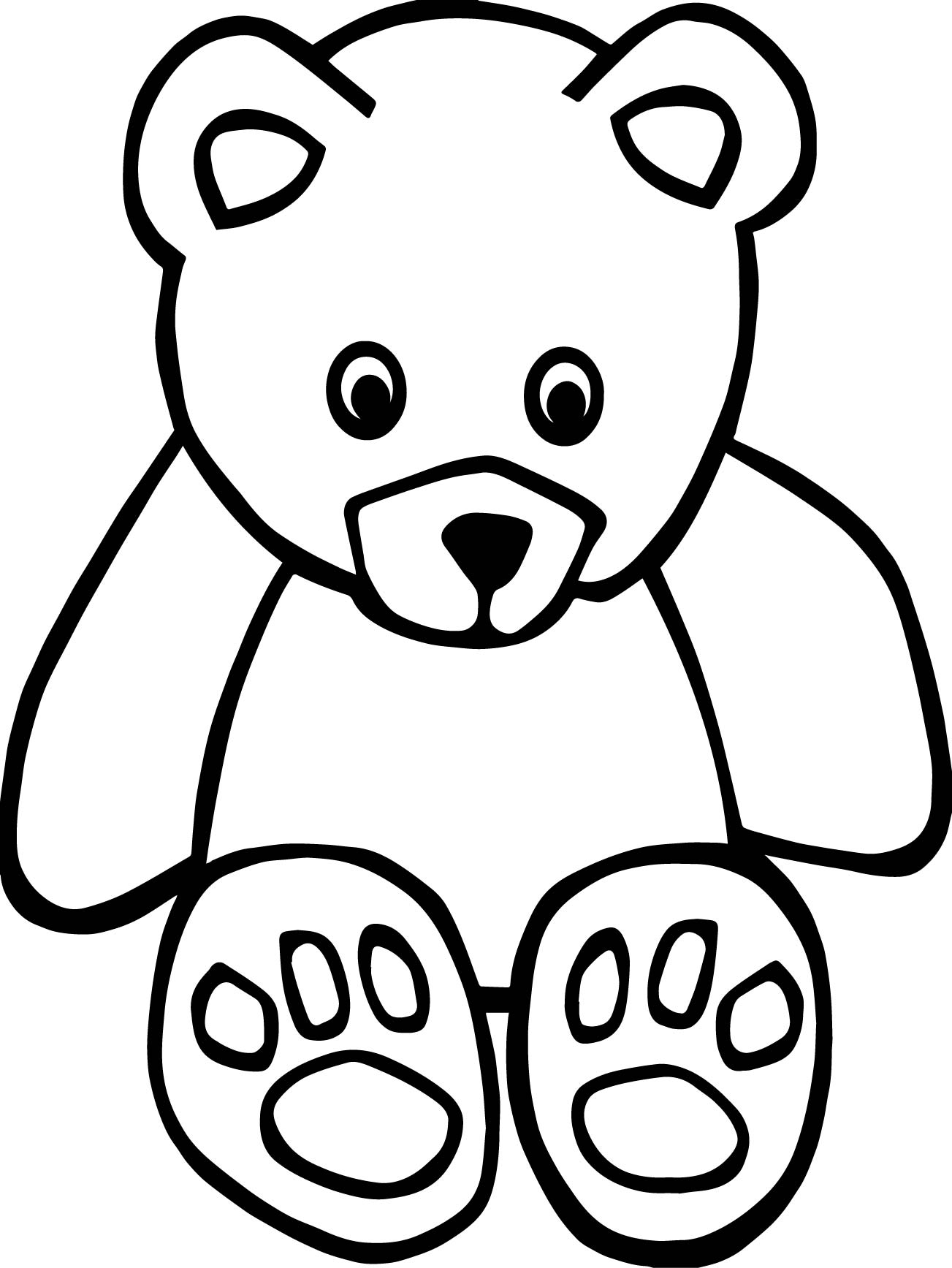 small bear coloring page wecoloringpage - Small Coloring Pages