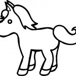 Small Cartoon Horse Coloring Page