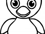 Small Duck Coloring Page