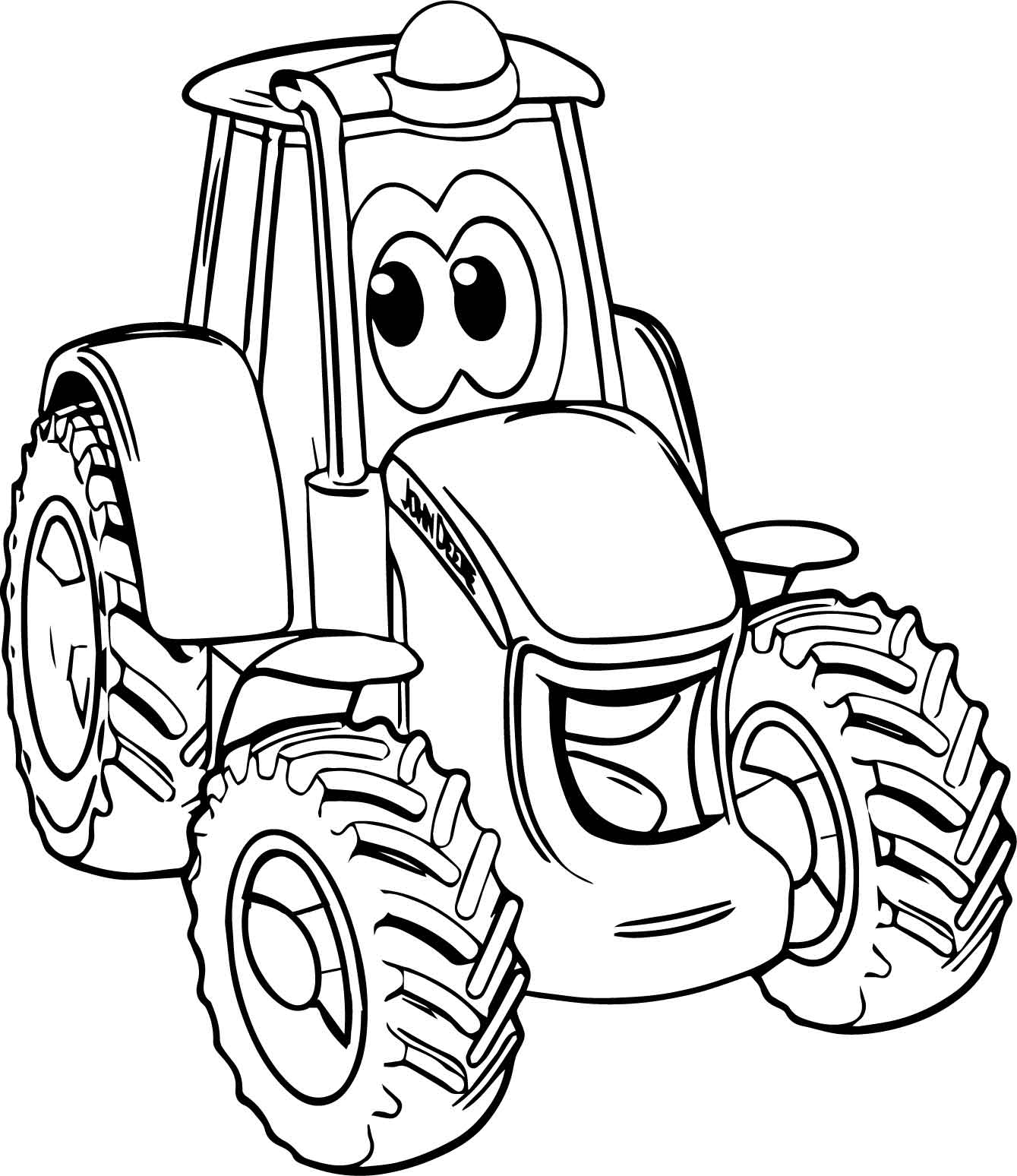 Smile John Deere Tractor Coloring Page Wecoloringpage Tractor Coloring Pages