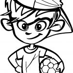 Soccer Player Boy Kid Coloring Page