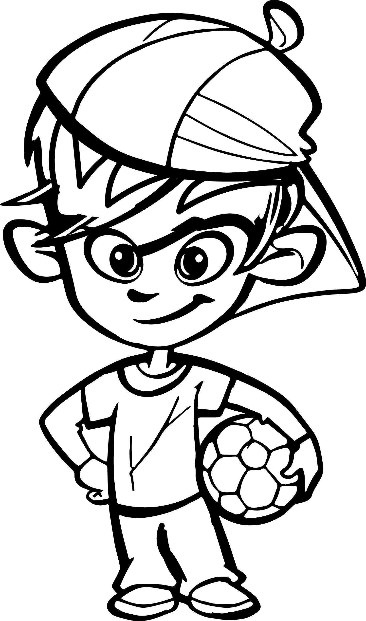 soccer coloring book pages - soccer player boy kid coloring page