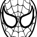 Spider Man Mask Face Coloring Page