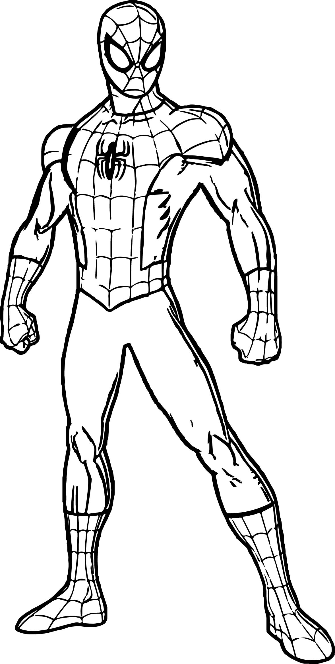 Spidey spider man coloring page for Spiderman coloring page printable