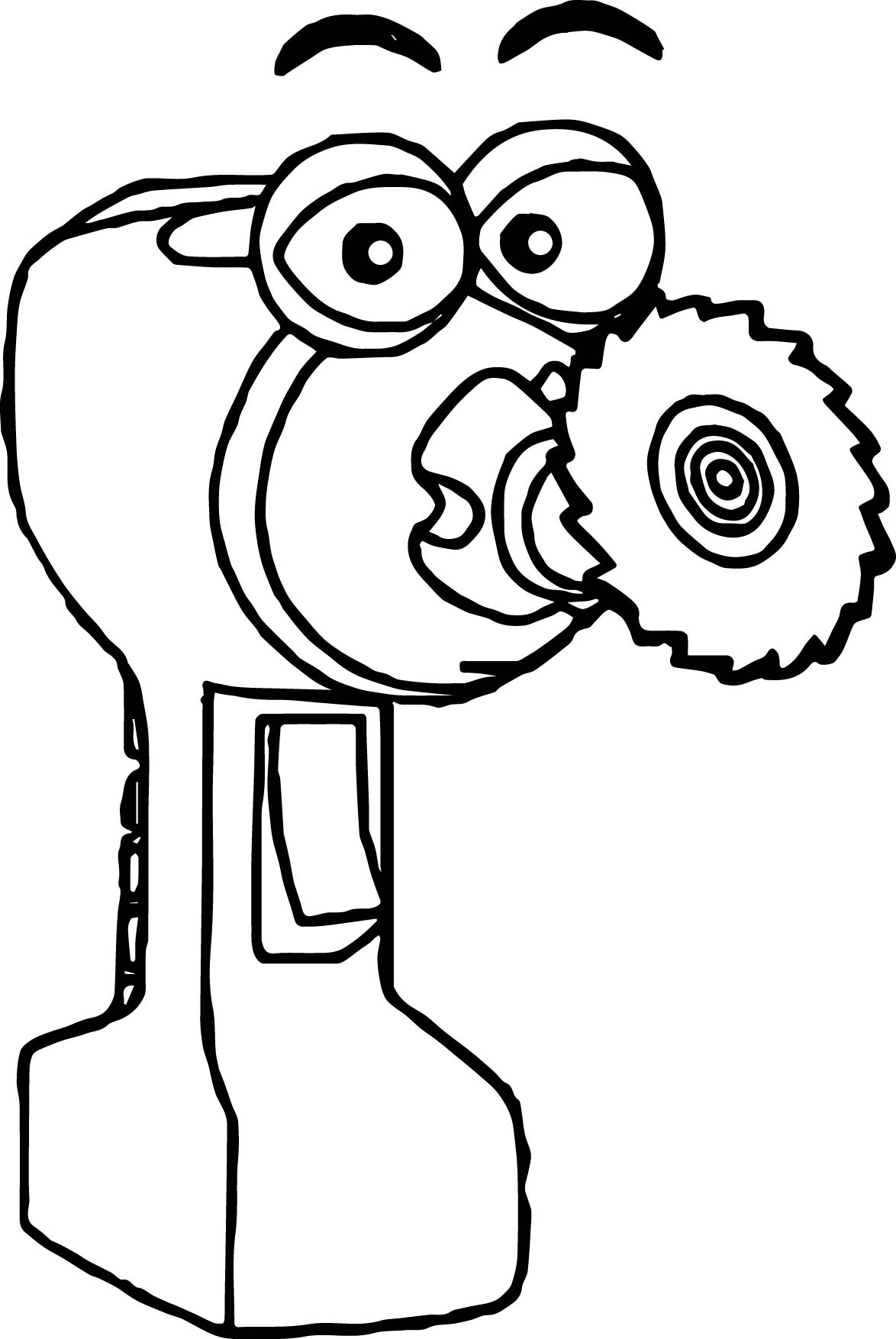Spinner Handy Manny Coloring Page