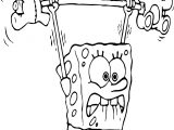 Sponge Bob Exercises Coloring Page