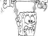 Sponge Bob Exercises Coloring Page