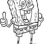 Sponge Bob Good Coloring Page