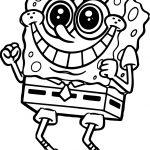 Sponge Sunger Bob Shocking Coloring Page