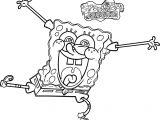 Sponge Sunger Bob Squarepants Crazy Coloring Page