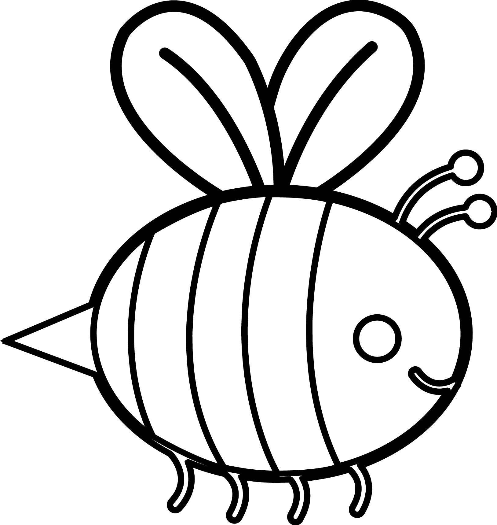 staying bee coloring page - Bee Coloring Page