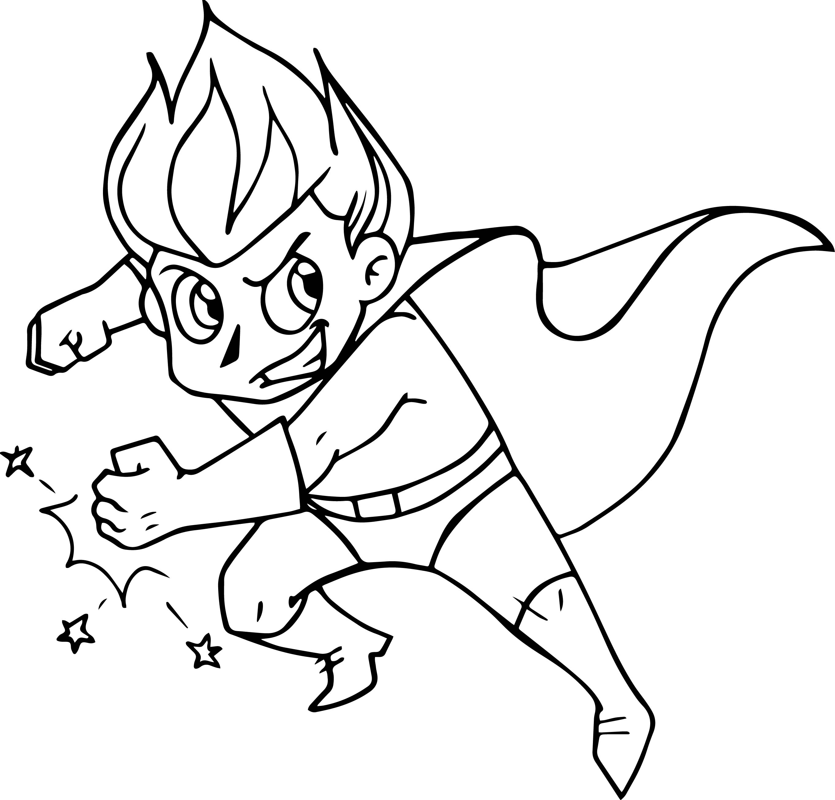 Superhero Comic Best Coloring Page