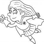 Superheroes Kid Girl Coloring Page