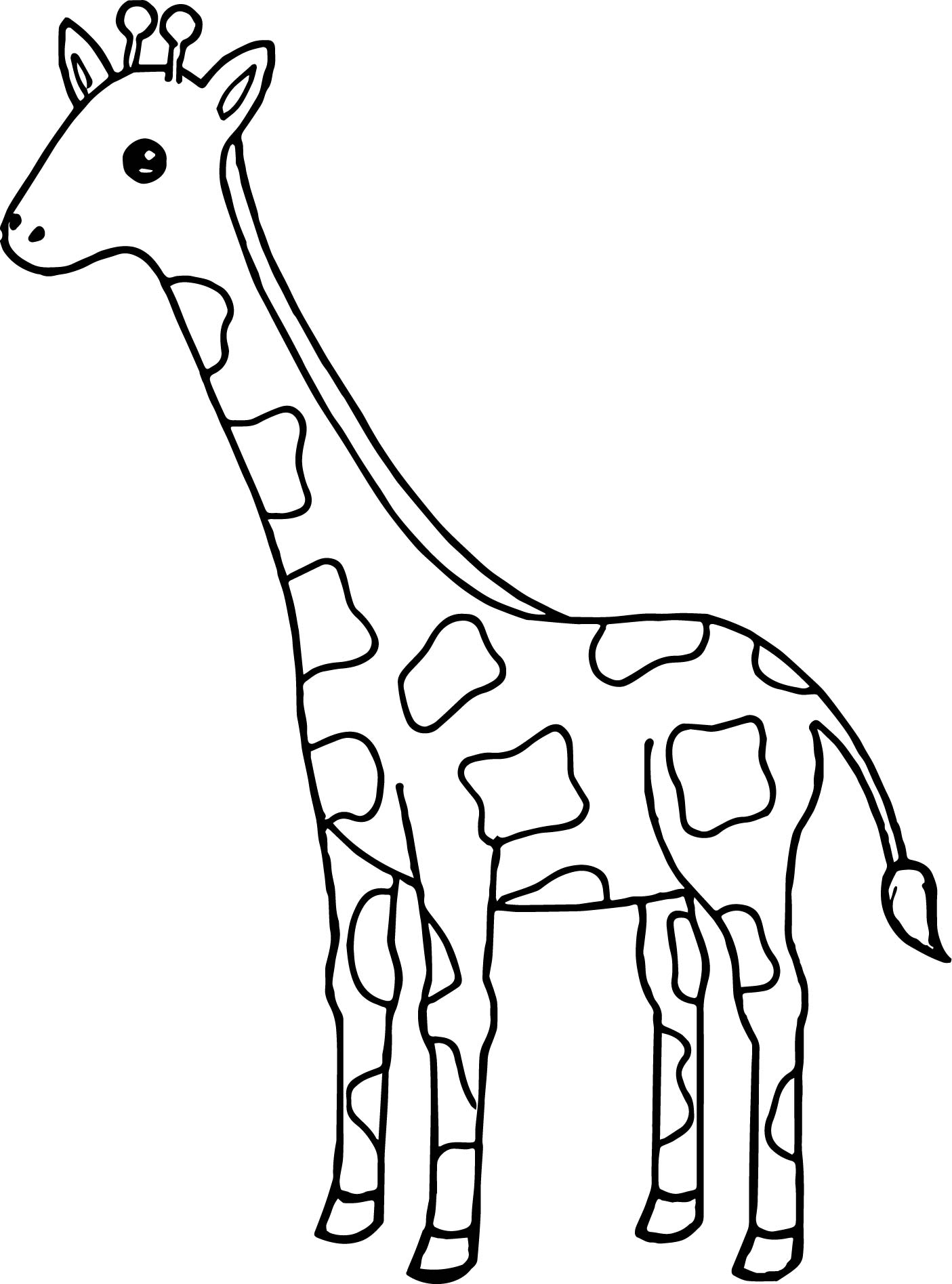 Tall Giraffe Coloring Page