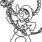 Texas Pecos Bill Cowboy Coloring Page