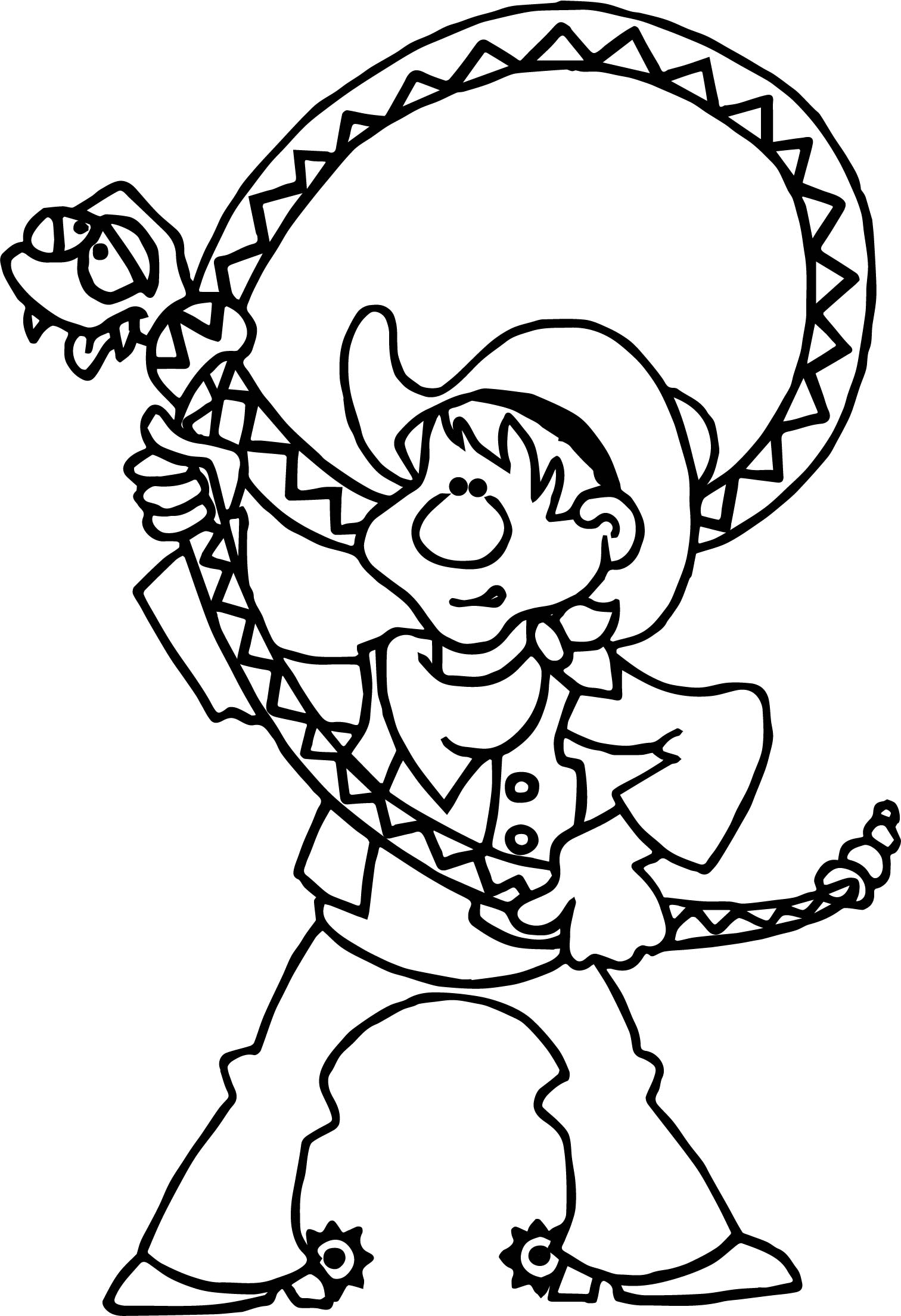 Texas Pecos Bill Cowboy Coloring Page
